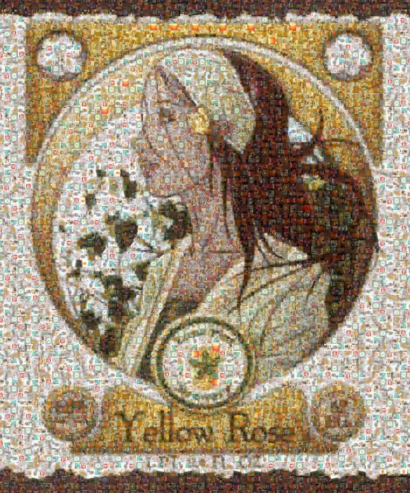 Yellow Rose Photo Mosaic Small