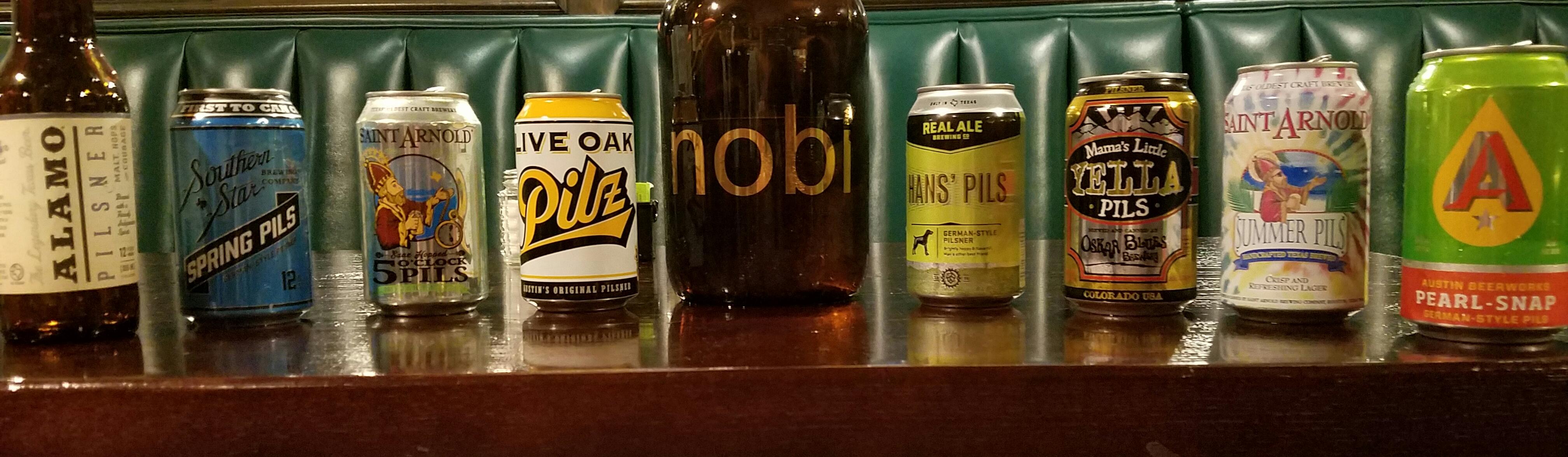 Pilsner Tasting Beer Lineup
