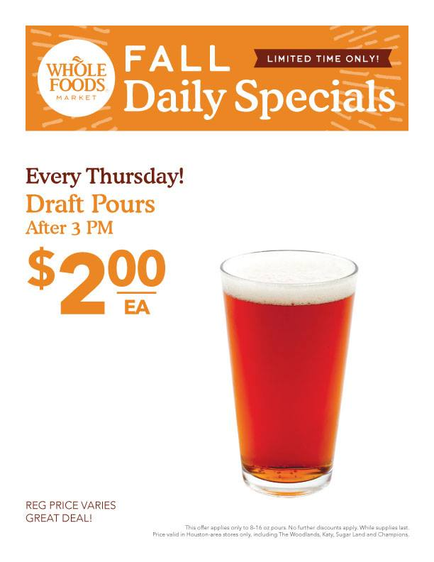 Whole Foods Market Beer Sale Flyer