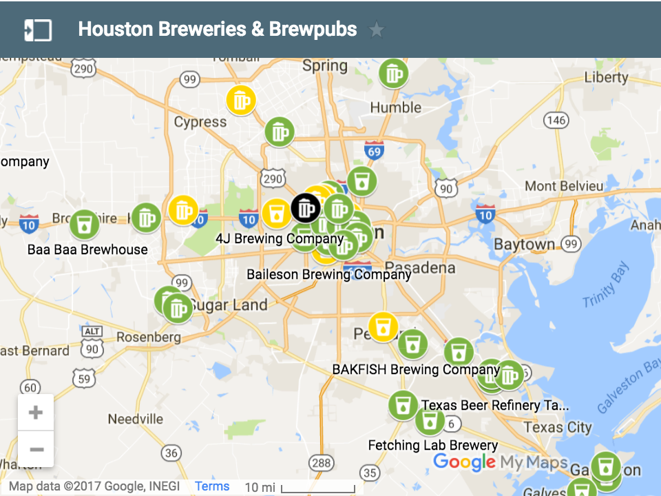 Houston Breweries Brewpubs Map Houston Beer Guide