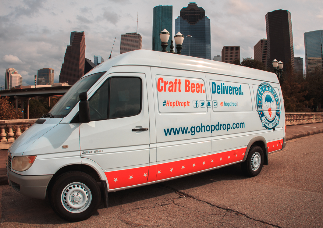 HopDrop currently has one delivery van, but they plan to add vans as they expand. | Photo: HopDrop