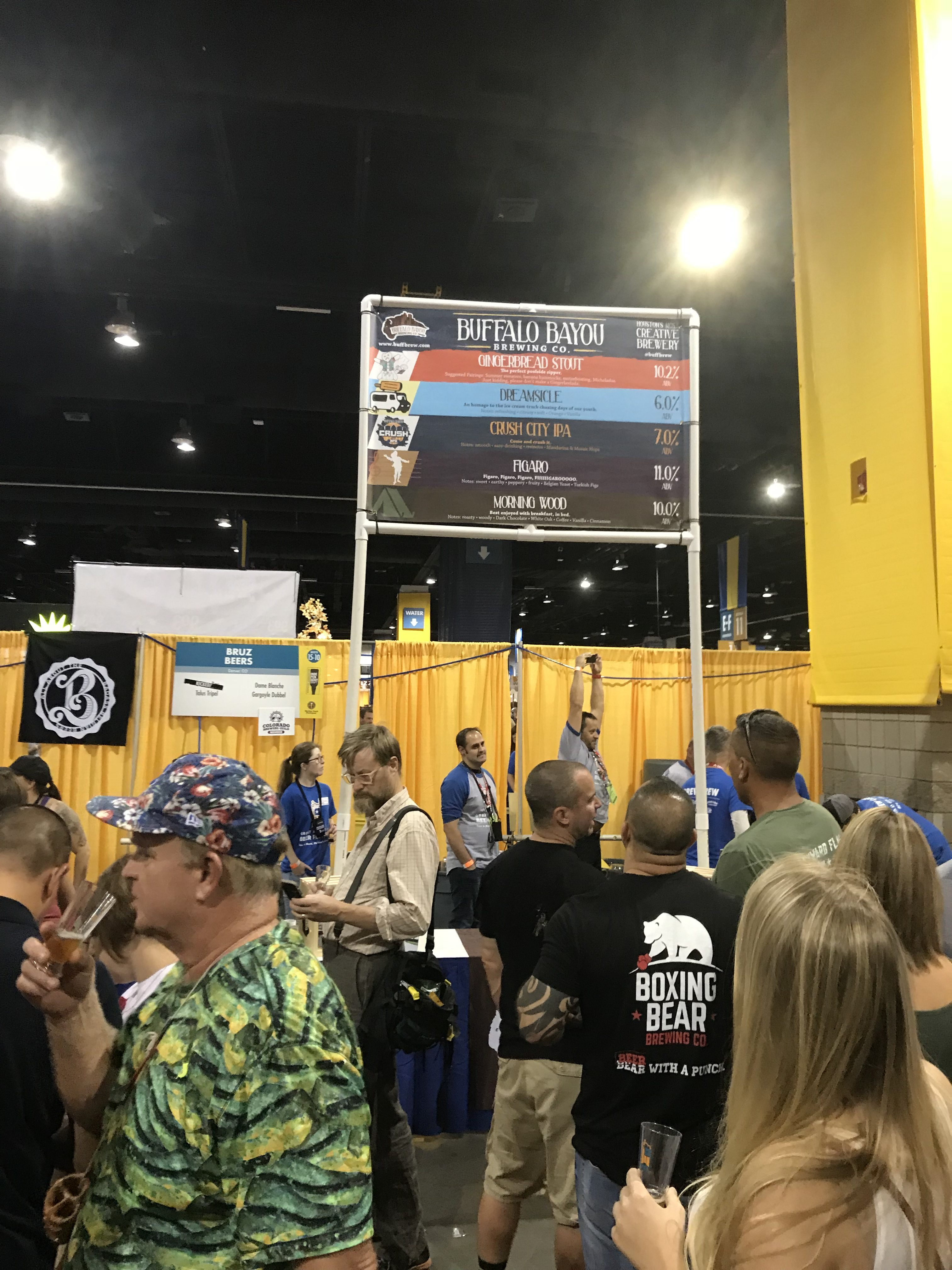 The Buffalo Bayou booth at the Great American Beer Festival in Denver, Colorado.