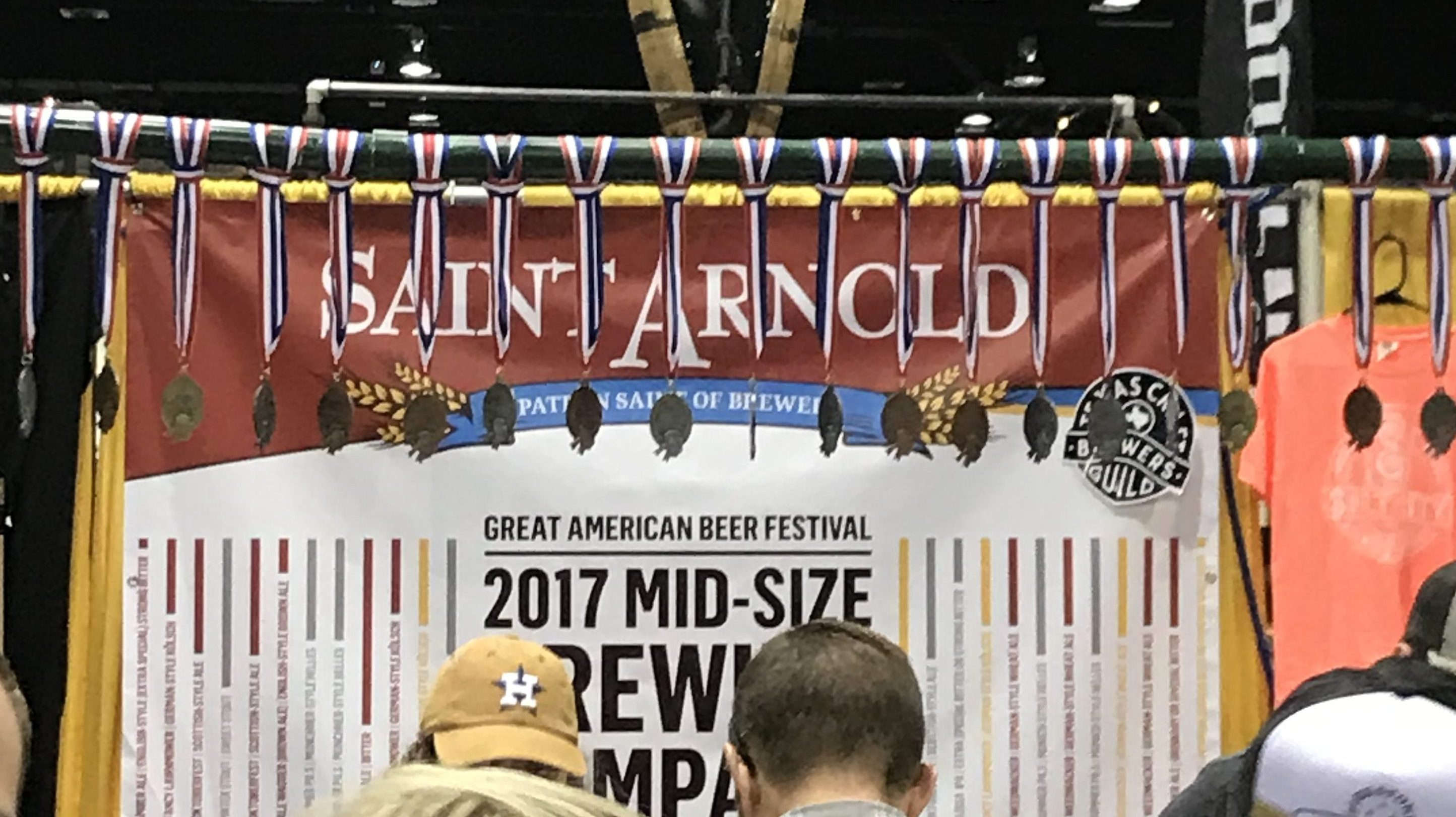 The Saint Arnold booth at the Great American Beer Festival in Denver, Colorado.