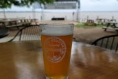 Waterfront beer experience at Lake Houston Brewery